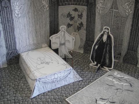 Dans la chambre de Lucy, seulement un tapis par terre.