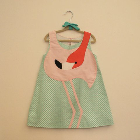 flamingo dress etsy