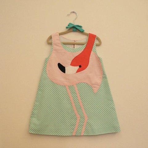flamingo dress etsy