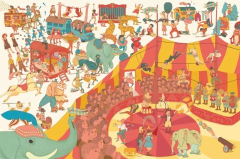 Par ici, une journée au cirque avec Marie Caudry…