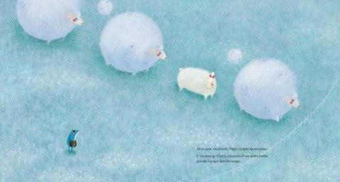 Un troupeau de moutons doux comme les nuages.