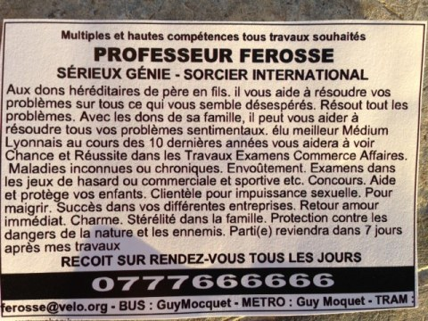 flyer marabout